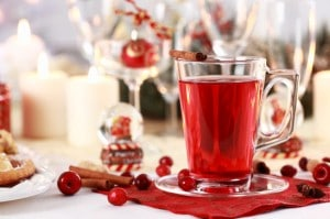 Hot wine cranberry punch
